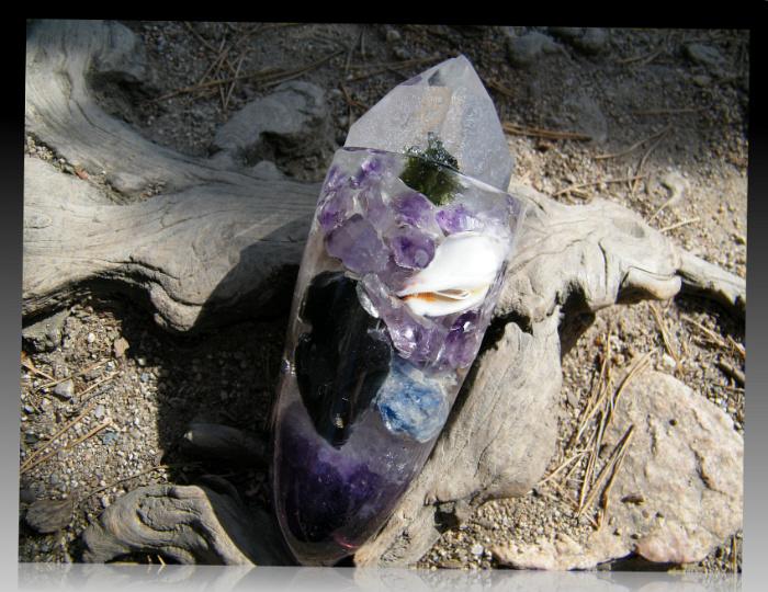 amethyst kyanite